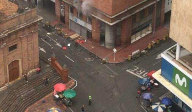 Explosión frente a la Fiscalía en Cali