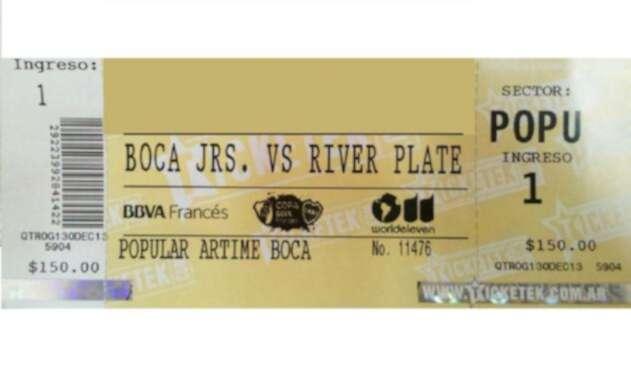Entrada Boca Juniors vs River Plate