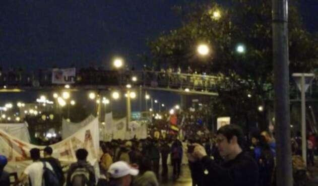 Así se registra el atasco monumental en Bogotá