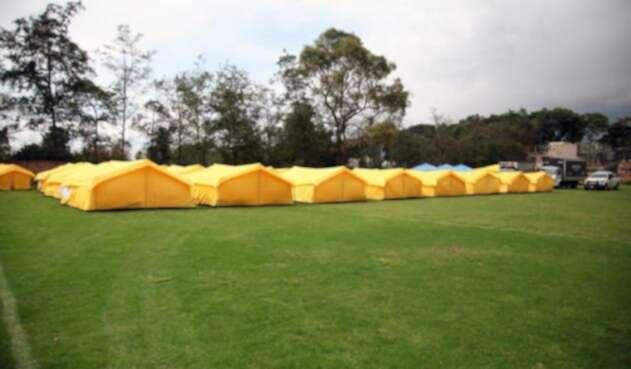 Así son los campamentos a los que se trasladarán los venezolanos que se encuentran en el terminal del Salitre