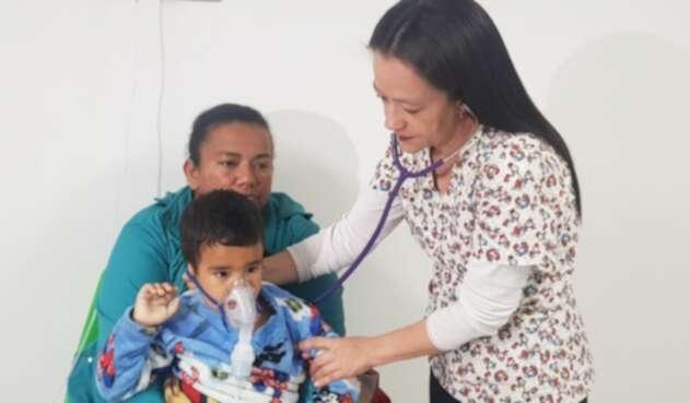 Niños con gripe