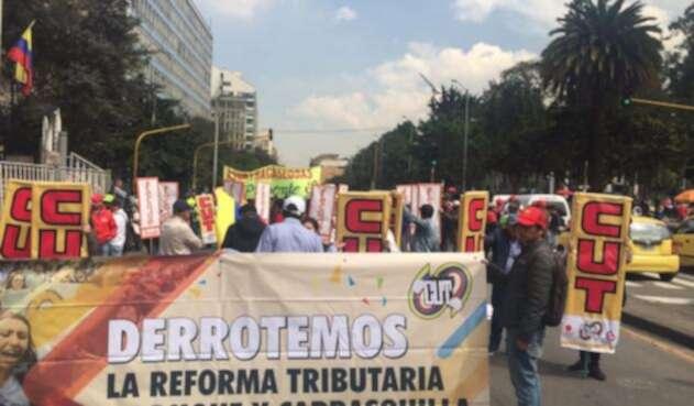Nueva marcha de estudiantes en Bogotá