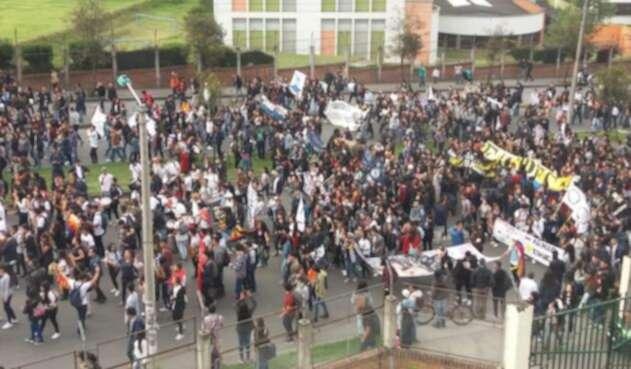 Marchas estudiantiles en pasto
