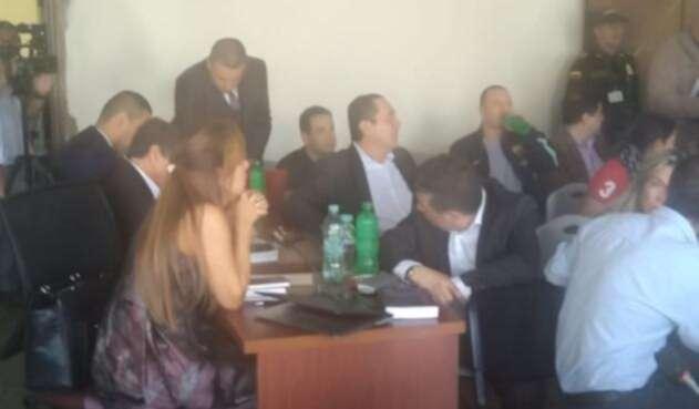 Alcalde de Envigado, Raúl Cardona, en audiencia en el Palacio de Justicia.