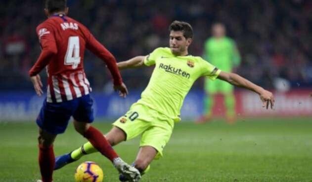 El Atlético de Madrid y el Barcelona empataron en el último minuto del encuentro.