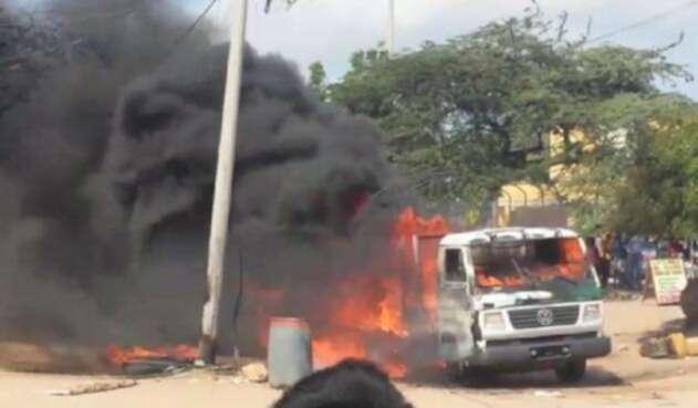 Ataque contra agentes de la Policía en Maicao (La Guajira)