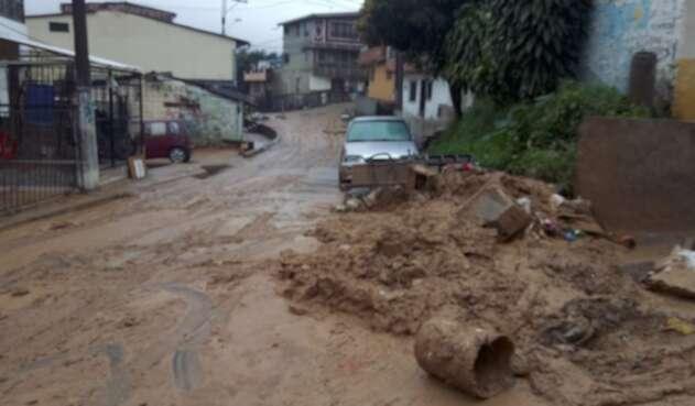 Referencial lluvias en Medellín.