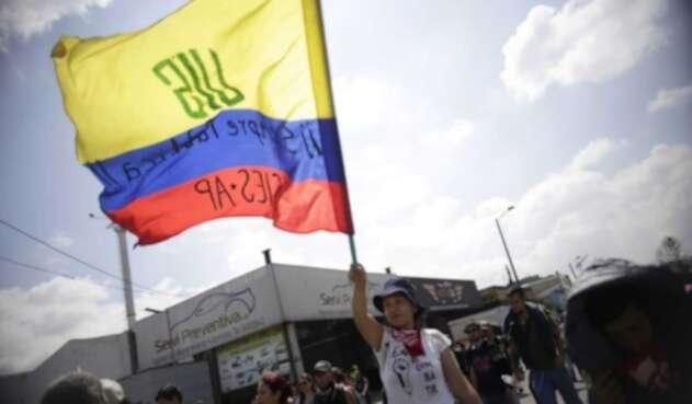 Más de 4.000 estudiantes y profesores de la Universidad Pedagógica llegaron a la Calle 80 con Avenida Boyacá.