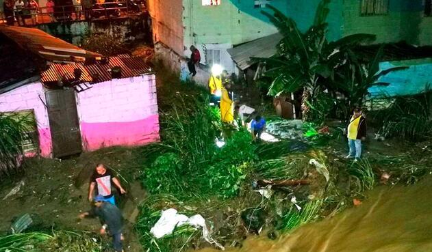 Las lluvias crean emergencias en Medellín