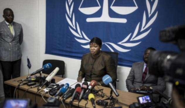 Fiscal Fatou Bensouda de la Corte Penal Internacional (CPI).
