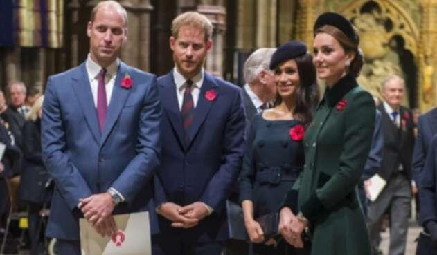 Duques de Cambridge y de Sussex