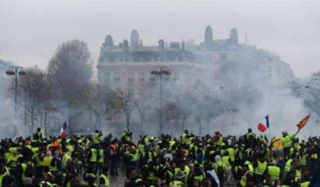 Francia protesta chalecos amarillos