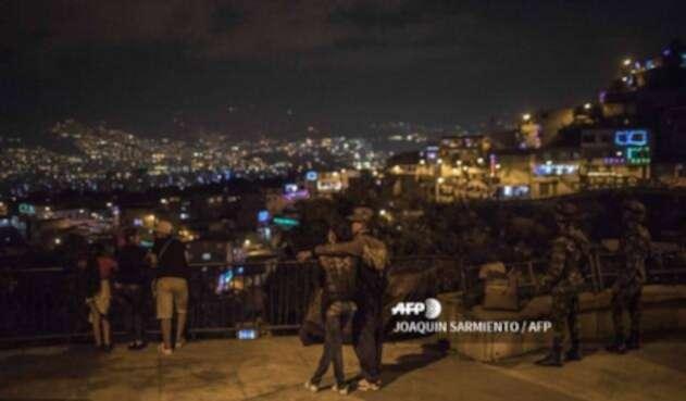 La noche decembrina en Medellín