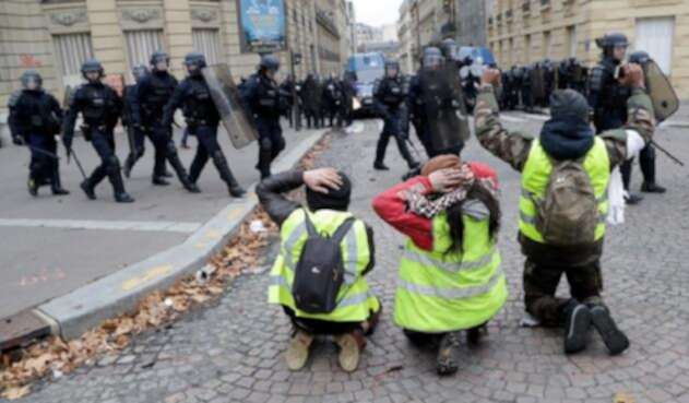 Protesta Francia Chalecos Amarillos