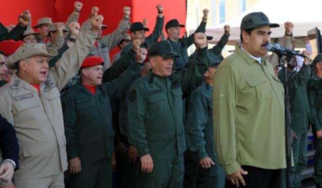 Nicolás Maduro en un acto oficial