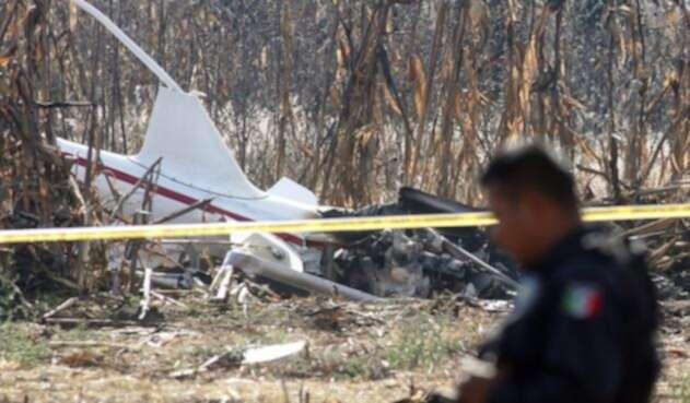 Aeronave siniestrada en Puebla, México