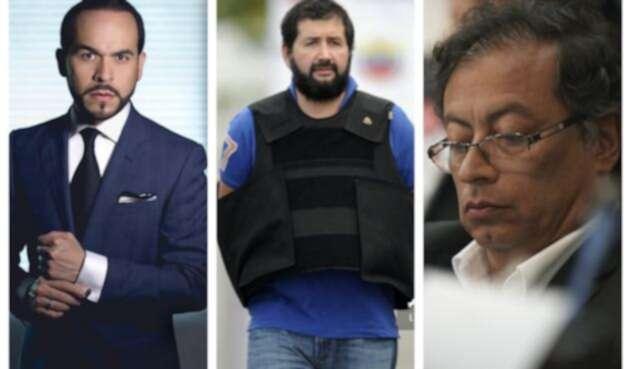 El abogado Abelardo de la Espriella, el narcotraficante Daniel Herrera y el senador Gustavo Petro