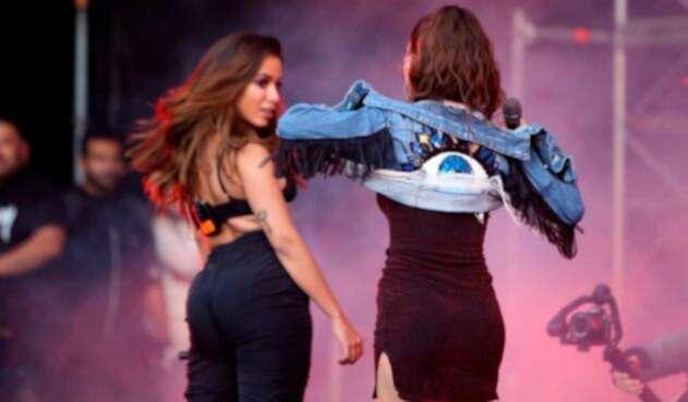 Anitta y Greeicy Rendón en Megaland