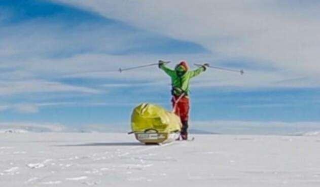 ColinO'Brady, primer hombre en cruzar a pie la Antártida