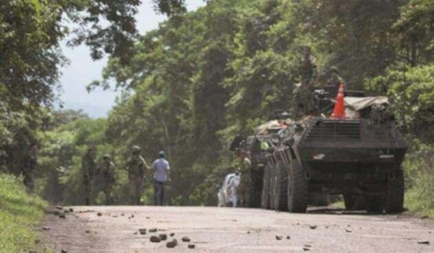 Asonada contra Ejército en zona rural de Tibú