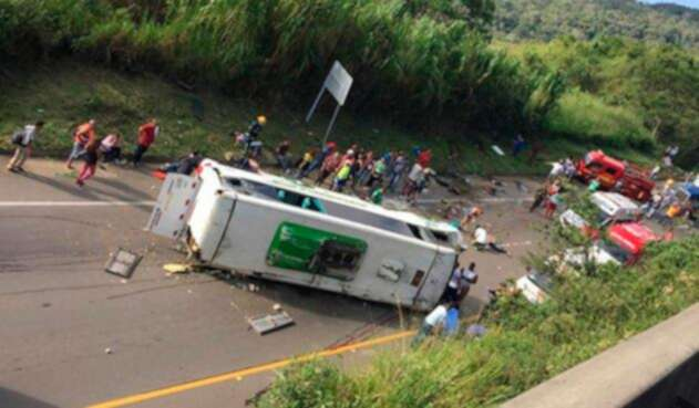 El accidente en Buga (Valle del Cauca)