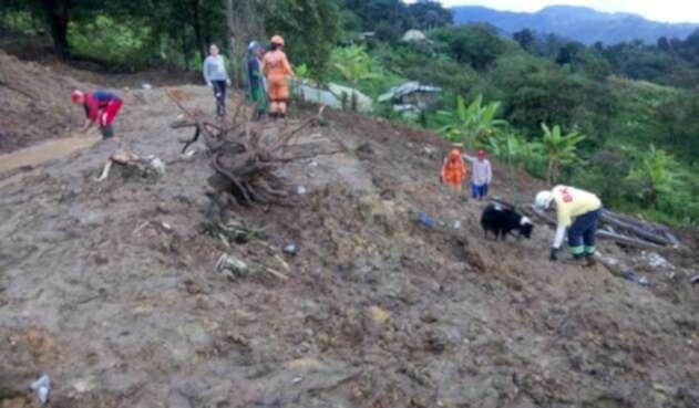 Labores de rescate en Calarcá (Quindío)