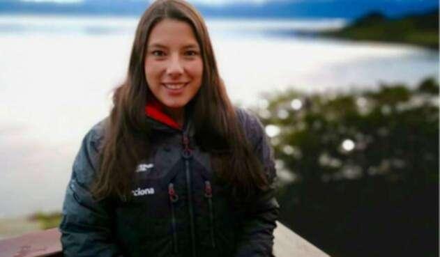 Carolina García en la expedición de la Antártida.