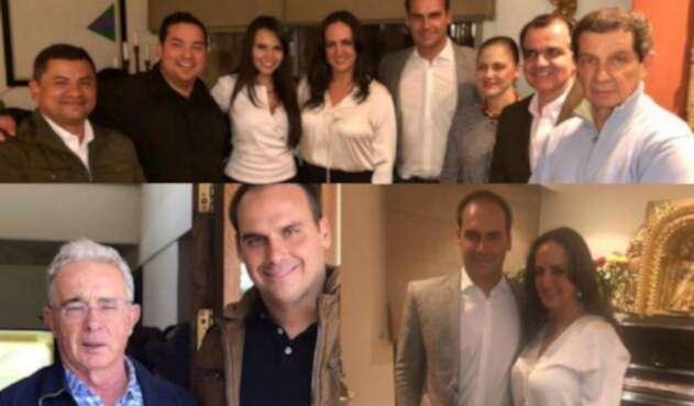 Integrantes del Centro Democrático y Eduardo Bolsonaro