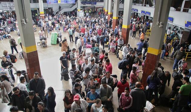 Terminal de Transportes del Salitre, en Bogotá