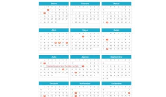 El calendario en Colombia de 2019 implica que habrá menos días festivos.