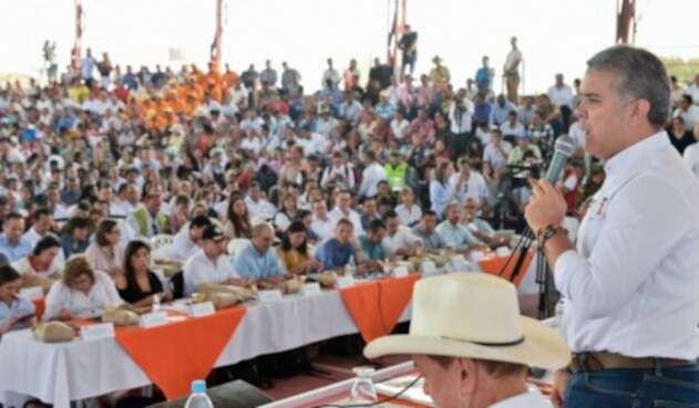 El presidente Iván Duque en San José del Guaviare