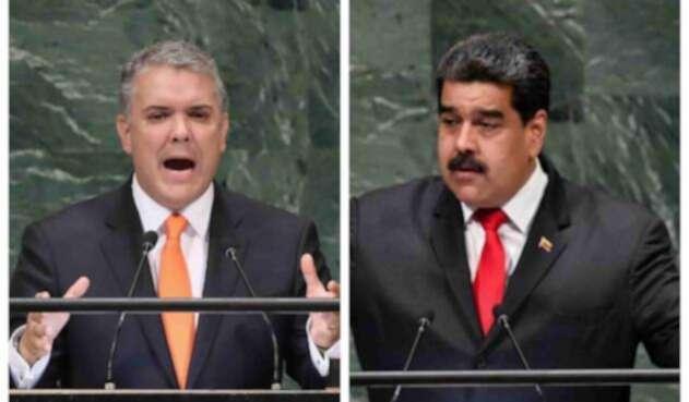 Iván Duque y Nicolás Maduro.