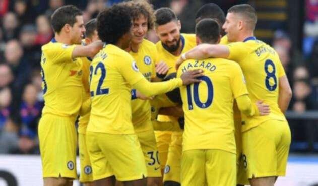 Jugadores del Chelsea celebrando un gol