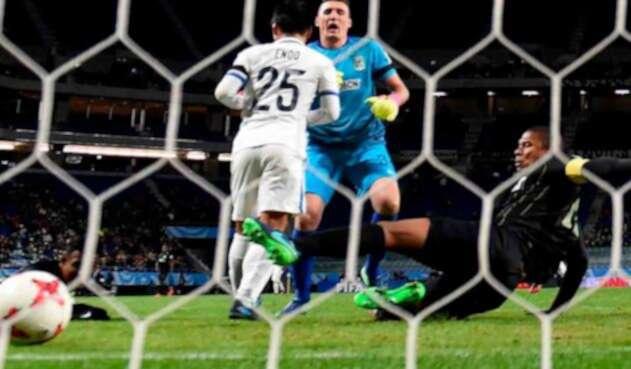 Yasushi Endo humillando a Nacional con su gol de taco