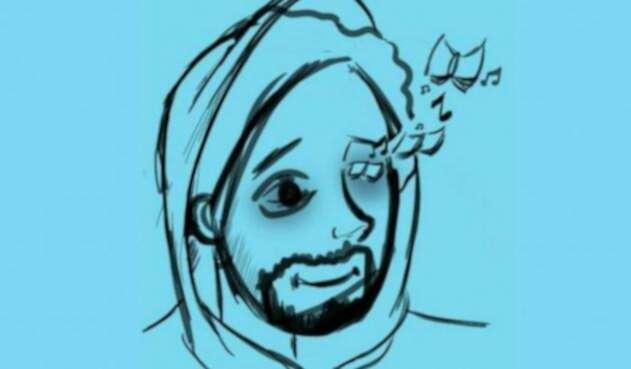 La ilustración que hizo uno de los compañeros de Esteban Mosquera