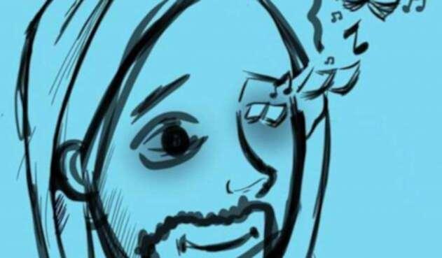 Caricatura en homenaje a Esteban Mosquera