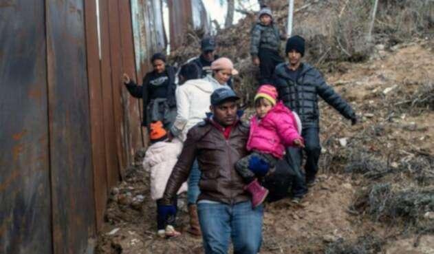 Familia de inmigrantes.