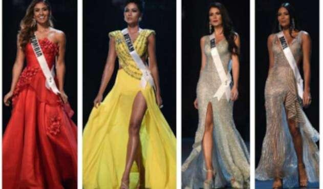 Favoritas traje de gala en Miss Universo 2018