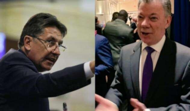 Néstor Humberto Martínez y Juan Manuel Santos