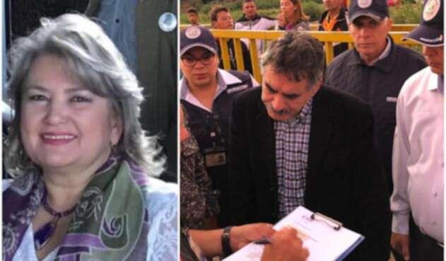Gloria Flórez Schneider y Carlos Manuel Pino García, su esposo expulsado de Colombia