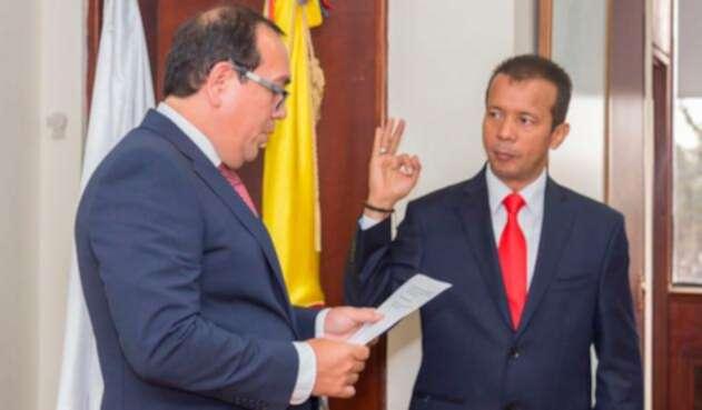 Heriberto Sanabria (a la derecha), presidente del Consejo Nacional Electoral