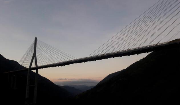 El puente Hisgaura, en Santander
