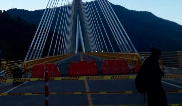 Iniciaron las pruebas de carga en el puente Hisgaura, en Santander.