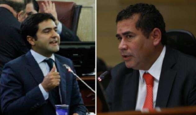 Samuel Hoyos y Carlos Chacón, en la Cámara de Representantes