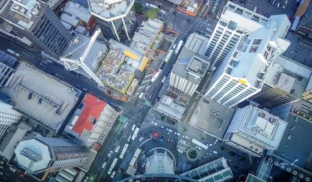 Vista aérea de Nueva Zelanda