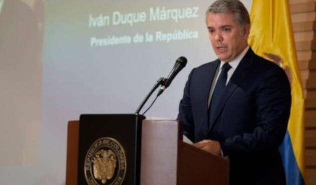 Iván Duque, presidente de la República, en Bogotá