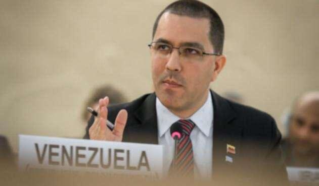 Jorge Arreaza, canciller venezolano, en Ginebra (Suiza)