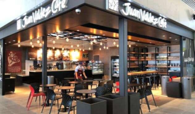 La tienda Juan Valdez en el Aeropuerto Internacional de Chile El Espigón C, en Santiago
