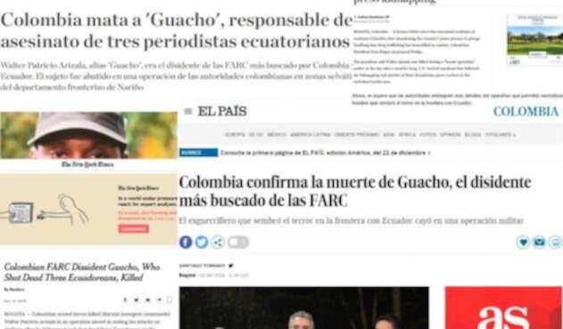Medios internacionales informaron sobre la muerte de alias 'Guacho'.