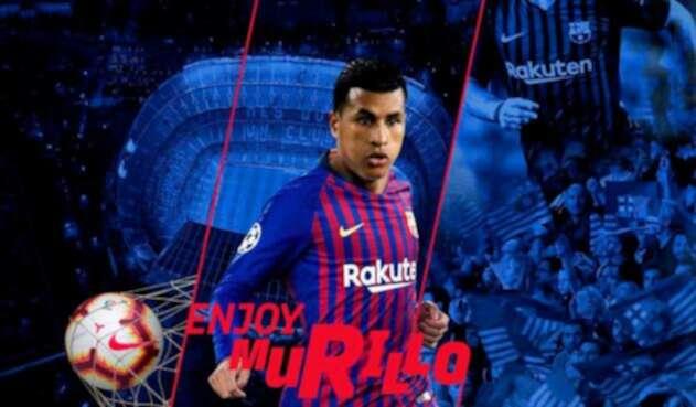 Jeison Murillo con el Barcelona